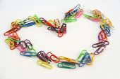 Colorful Paper Clips Of Love poster