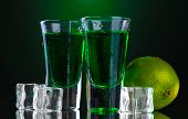 image of absinthe  - Two glasses of absinthe - JPG