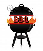 pic of fiery  - Smoky fiery BBQ grill - JPG