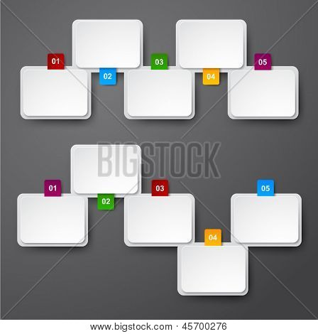 Vector illustration of paper infographics template design. Eps10