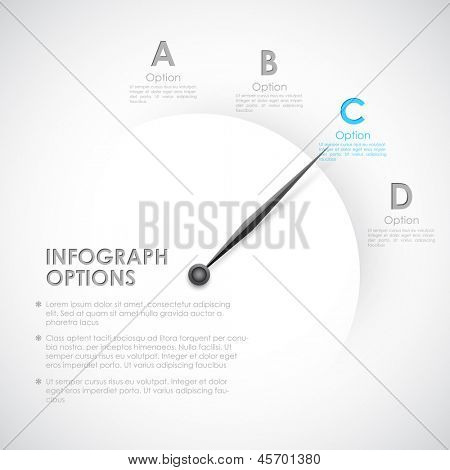 illustration of infographics options with pointer for presentation and promotion