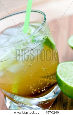 Caipirinha - National Cocktail Of Brazil Made With Cachaca, Sugar And Lime.