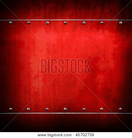 red iron plate