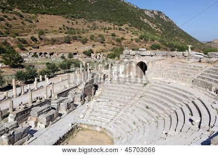 Theatre in the antique city of Ephesus, Turkey