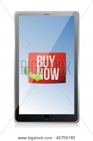 Buy Now Sign On A Tablet.