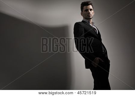 Fashion style photo of young man