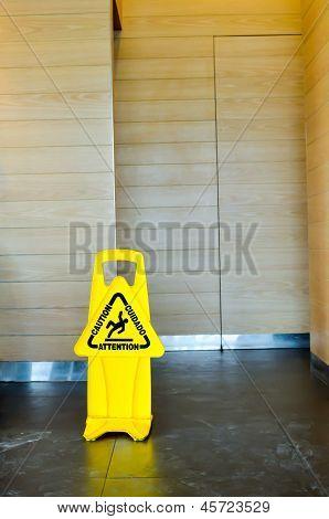 Caution: Slippery When Wet .
