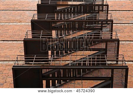 Abstract fire escape background texture