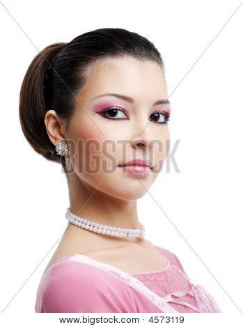 schöne Frau mit sexy braune Augen