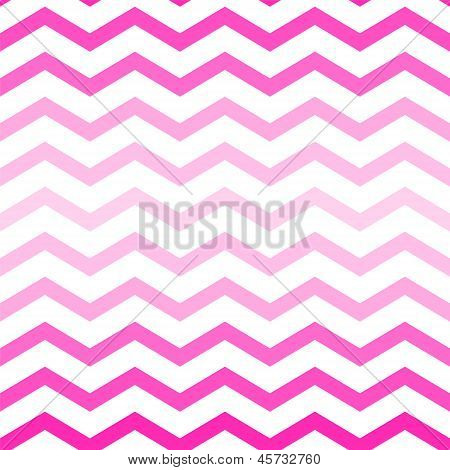 Shades of neon pink chevron seamless pattern on white, vector