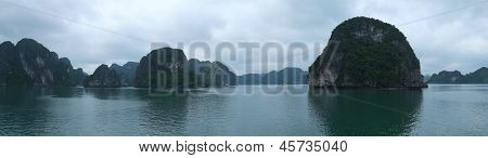 Islands In Halong Bay, Panorama