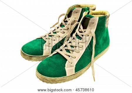 Green Suede Gumshoes