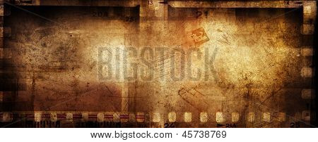Film negative strips grunge background
