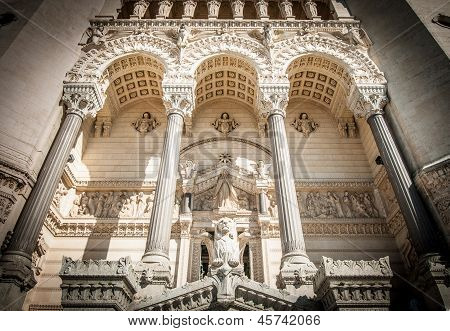 Basilica Of Notre Dame De Fourviere, France.