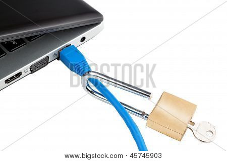 Do Not Secure The Laptop From Hacker Attacks. Concept Picture.
