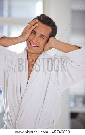 Man In A Bathrobe