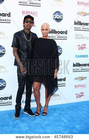 LOS ANGELES -  MAY 19:  Wiz Khalifa and Amber Rose arrive at the Billboard Music Awards 2013 at the MGM Grand Garden Arena on May 19, 2013 in Las Vegas, NV