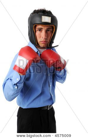 Businessman With Boxing Gear