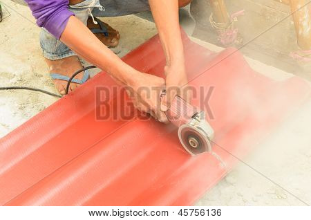 Cutting The Roof Tile