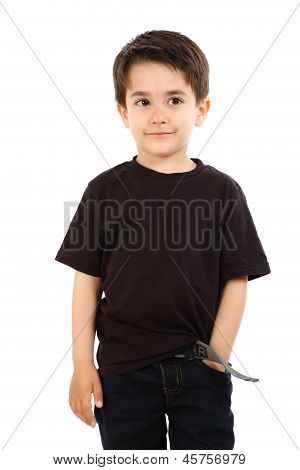Male Child In Studio