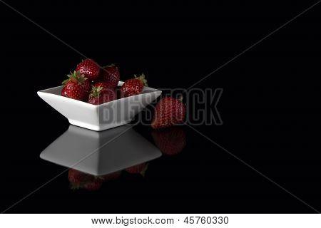 strawberry black food natural