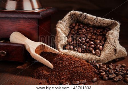 Traditional Coffee Background.