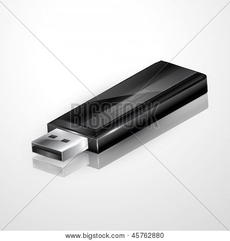 vector usb flash drive illustration