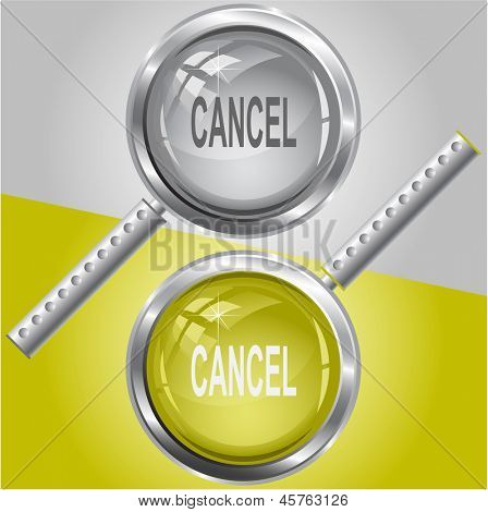 Cancel. Raster magnifying glass. Vector version is in my portfolio.