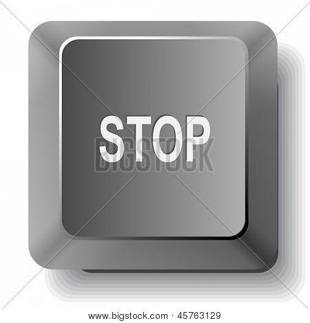 Stop. Raster computer key.