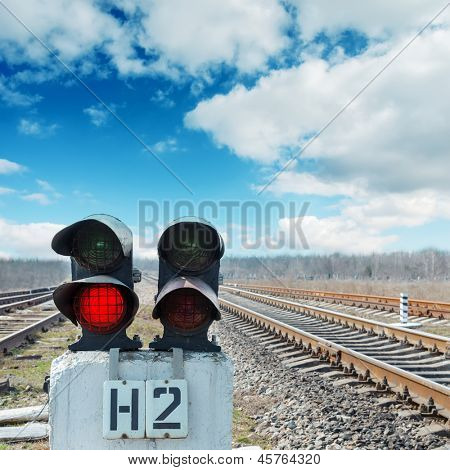 two semaphores on railroad