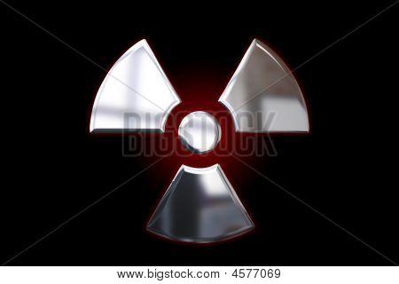 Metallic Alert Sign - Radiation
