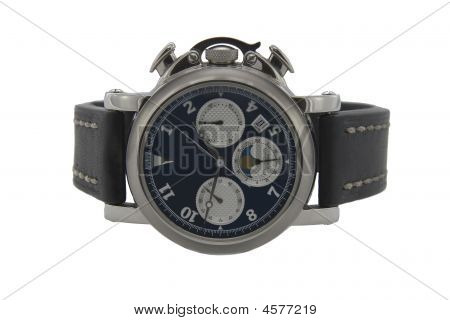 Chronograph Watch In White Background