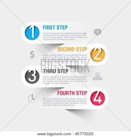 Business stappen infographics sjabloon. Vector.