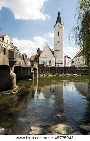 River Amper And Church St. Leonhard