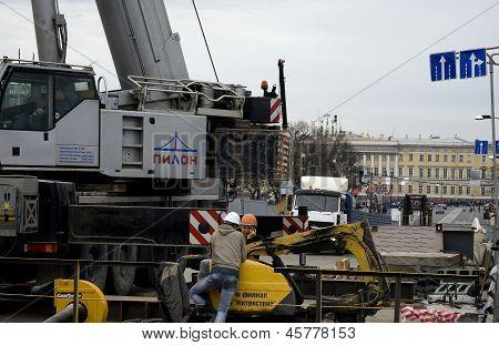 Reparación de la calzada del puente