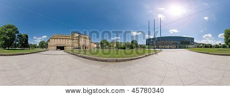 Stuttgart, Parliamant And Opera Panorama