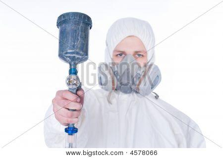 Man With Airbrush Gun