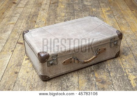 Old abandoned suitcase