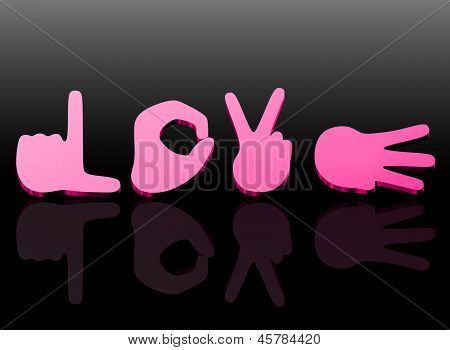 Sign Language For Love, 3D