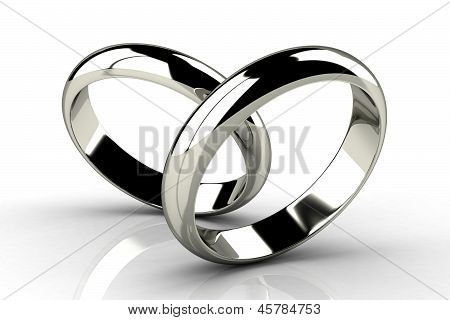 The Beauty Wedding Ring On White Background