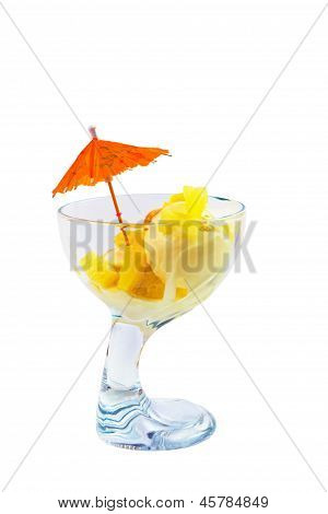 ice food cream and cup a isolated white background clipping path