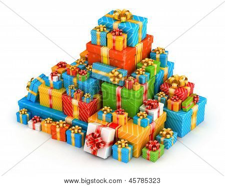 Gift boxes pyramid