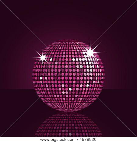 Reflected Purple Disco Ball