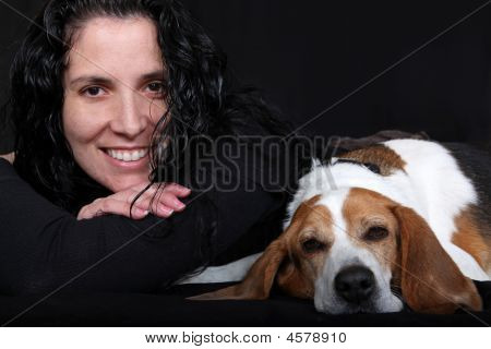 Lady & Her Dog  (beagle)
