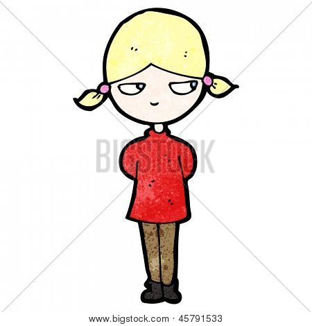 cartoon annoyed blond girl
