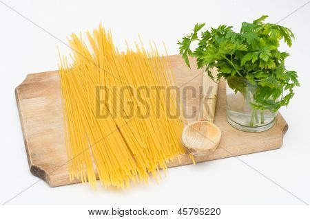 Spaghetti Traditional On A Board