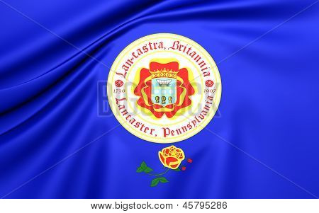 Flag Of Lancaster, Usa.