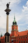 Warsaw Castle Square With King Sigismund Iii Vasa Column.