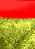 Green Synthetic Fur