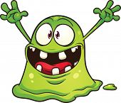 foto of monsters  - Cartoon green blob monster - JPG